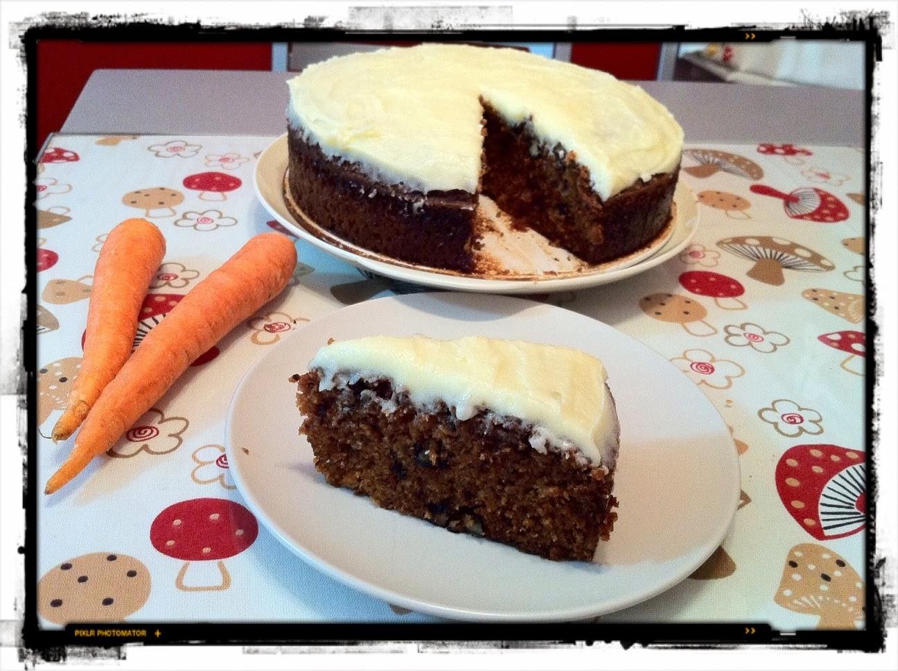 Receta de carrot cake (o pastel de zanahoria)