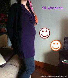 barriga 14 semanas embarazo gemelar
