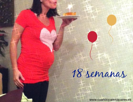 Barriga embarazo gemelar 18 semanas