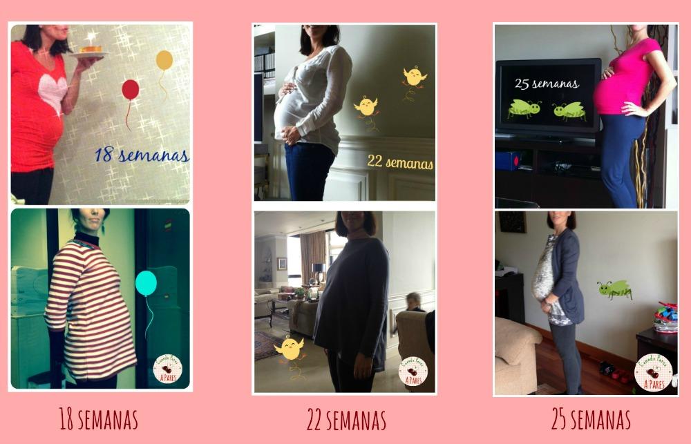 Barriga embarazo gemelar vs embarazo individual